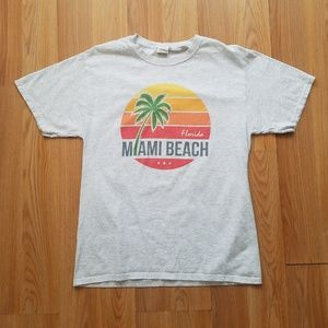 Other - Miami Beach Florida Grey Short Sleeve Graphic Tee